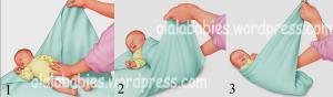 cara membedung bayi